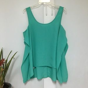 BCBGeneration High Low Mint Green Sleeveless Top